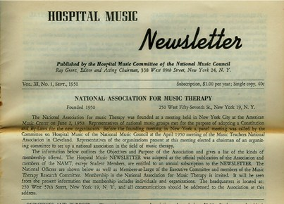 National Association for Music Therapy (NAMT)