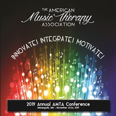 2019 AMTA Conference Logo, colorful music notes and conference theme: Innovate, Integrate, Motivate!