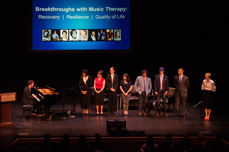 Presenters Onstage for Breakthroughs with Music Therapy - Images by Tracey Salazar