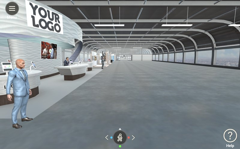 virtual exhibti hall entry