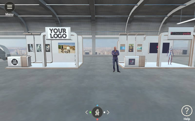 virtual exhibit hall booth